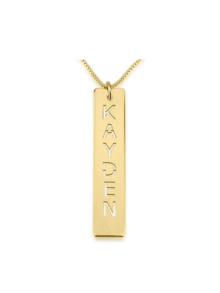 Vertical Bar Name Necklace