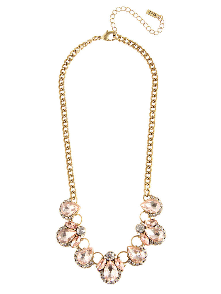 Amie Crystal Statement Necklace – Olive + Piper