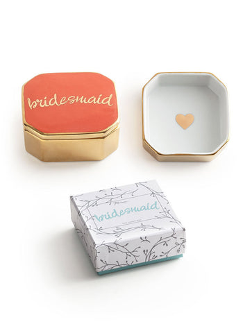 olive + piper Bridesmaid Porcelain Catchall Trinket Box