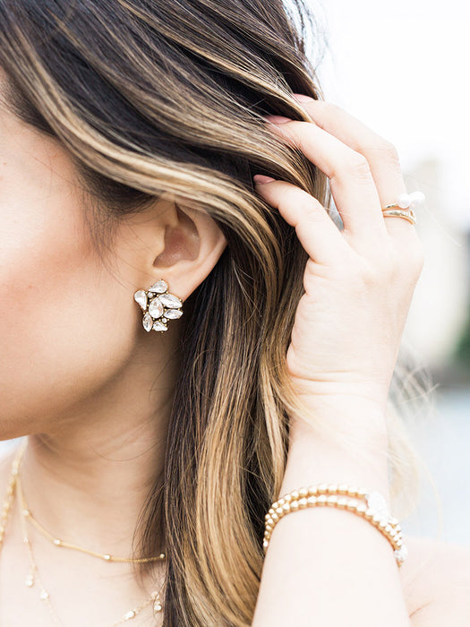 Celeste Cluster stud earrings - Fashion jewelry