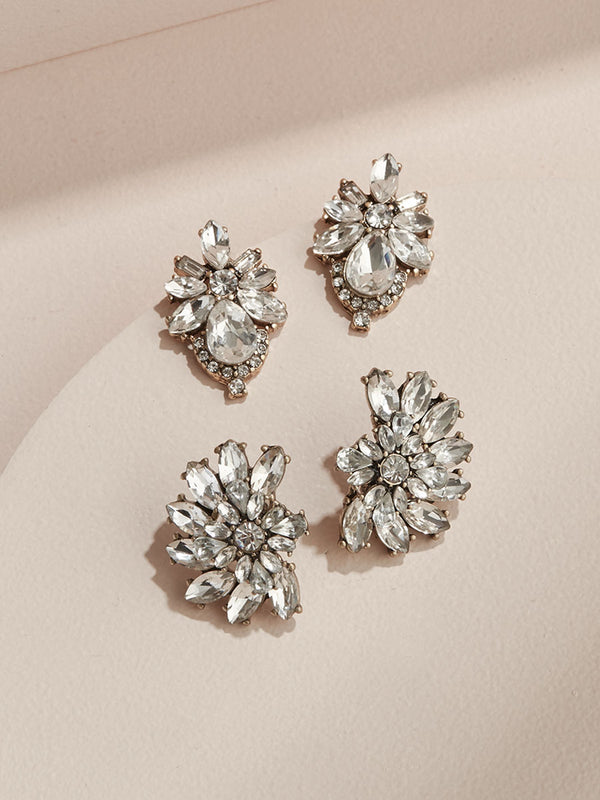 olive + piper Grandeur Statement Stud Earring Set