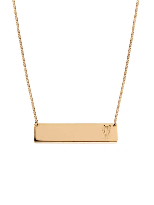 olive + piper Customized Horizontal Bar Necklace - Rose Gold