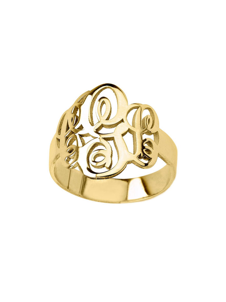 Handwritten Monogram Ring