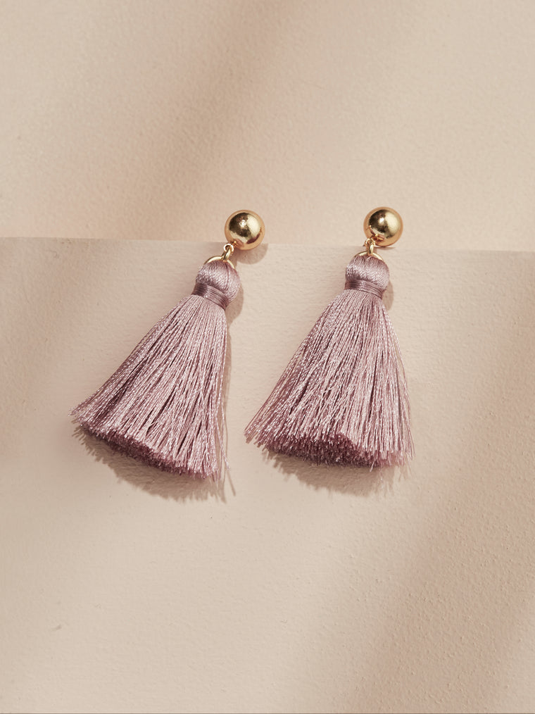 olive + piper Mini Tassel Statement Earrings