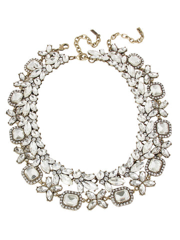 olive + piper Parisan Crystal Collar Necklace Duo (Set of 2)