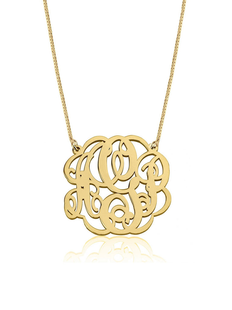 Twisted Monogram Necklace