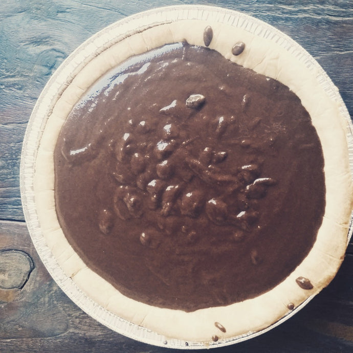 Chocolate Pudding Pie (Vegan + Gluten-Free)