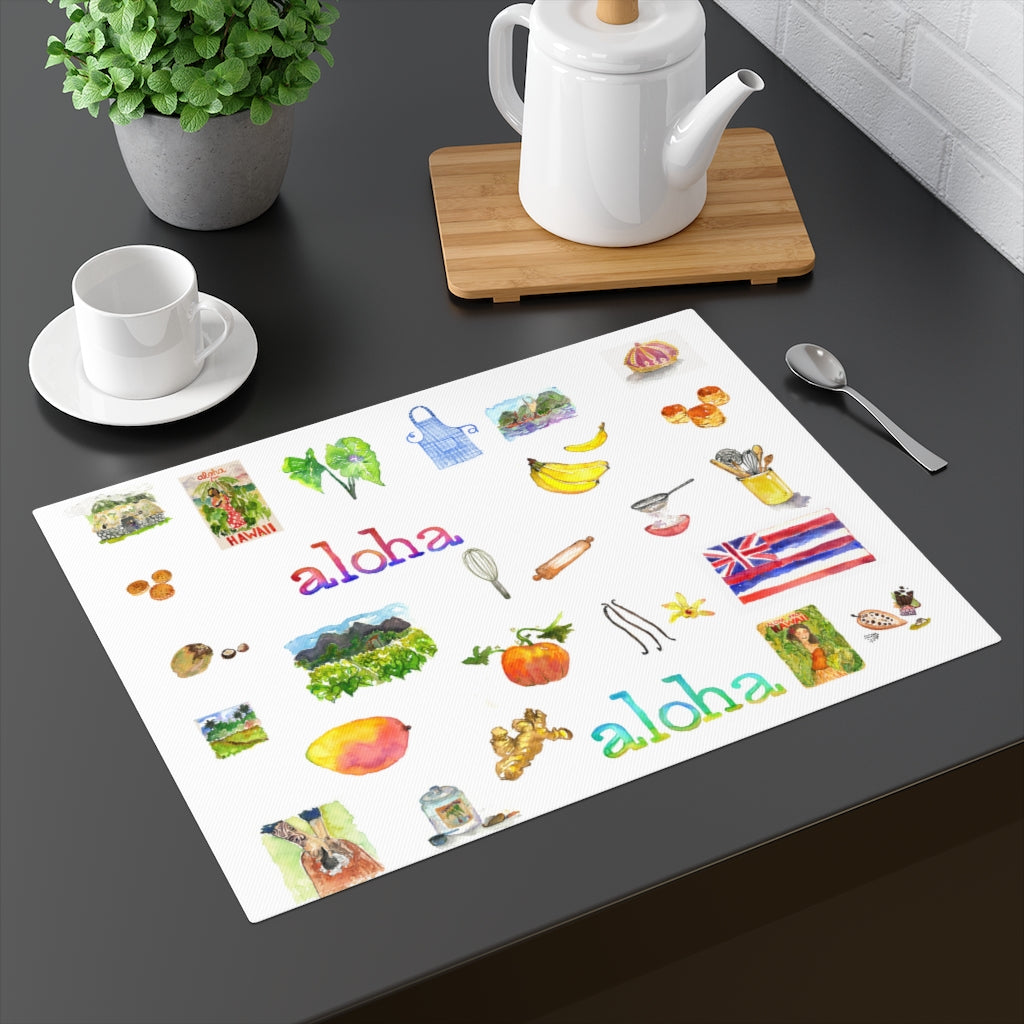 Island Style Printed Fabric Placemat