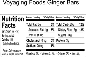 Taro Bars-Ginger 3-pack