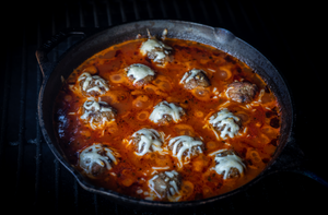 Smoked Meatballs and Marinara Sauce