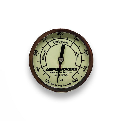 "GLOW IN THE DARK TEL-TRU 3"" BBQ Temp Gauge"