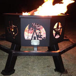 "28"" Texas Tea Theme Fire Pit"