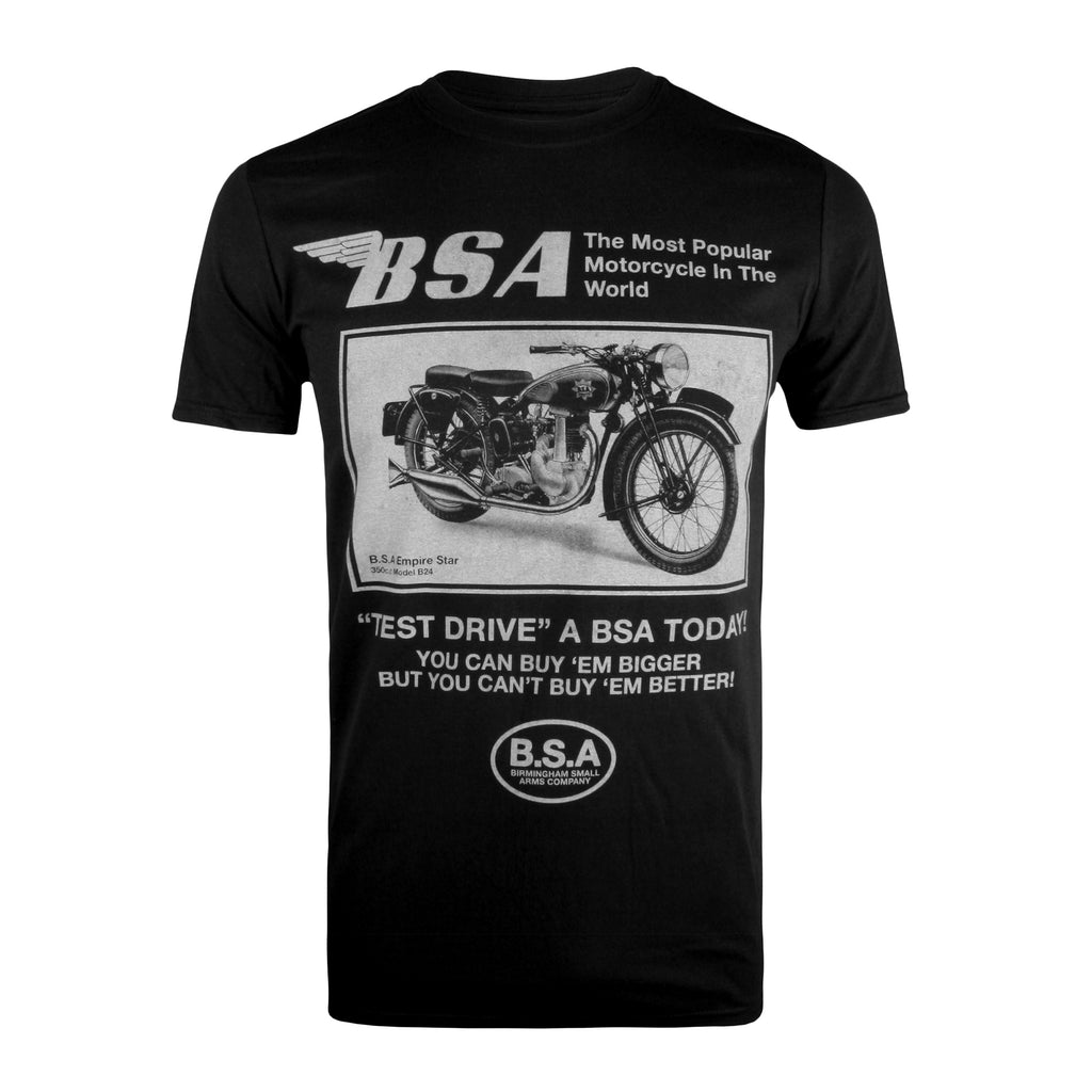 BSA Mens - Test Drive - T-Shirt - Black