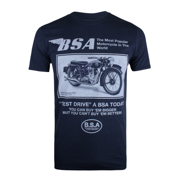 BSA Mens - Test Drive - T-Shirt - Navy