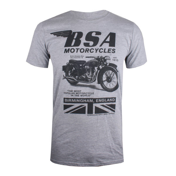 BSA Mens - Tonal Invert - T-Shirt - Grey Marl
