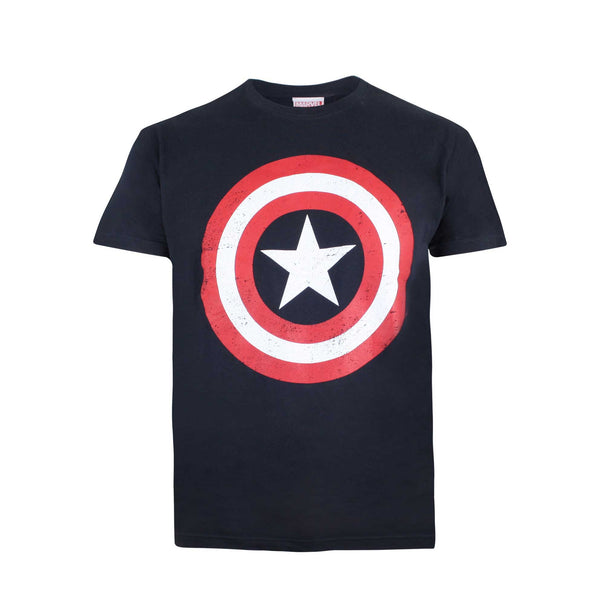 Marvel Kids Captain America Shield T-Shirt - Navy