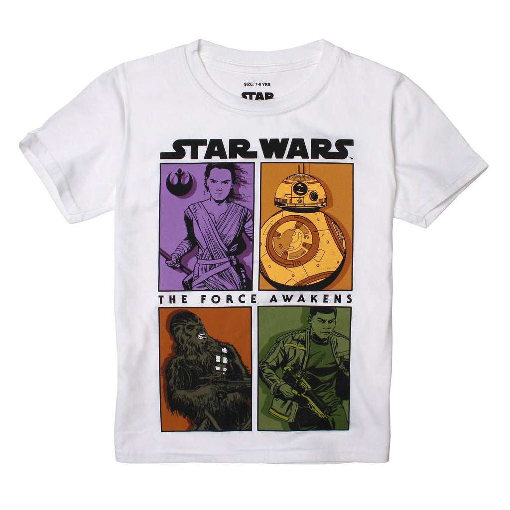 Star Wars Boys - Rebels Panel - T-Shirt - White - CLEARANCE