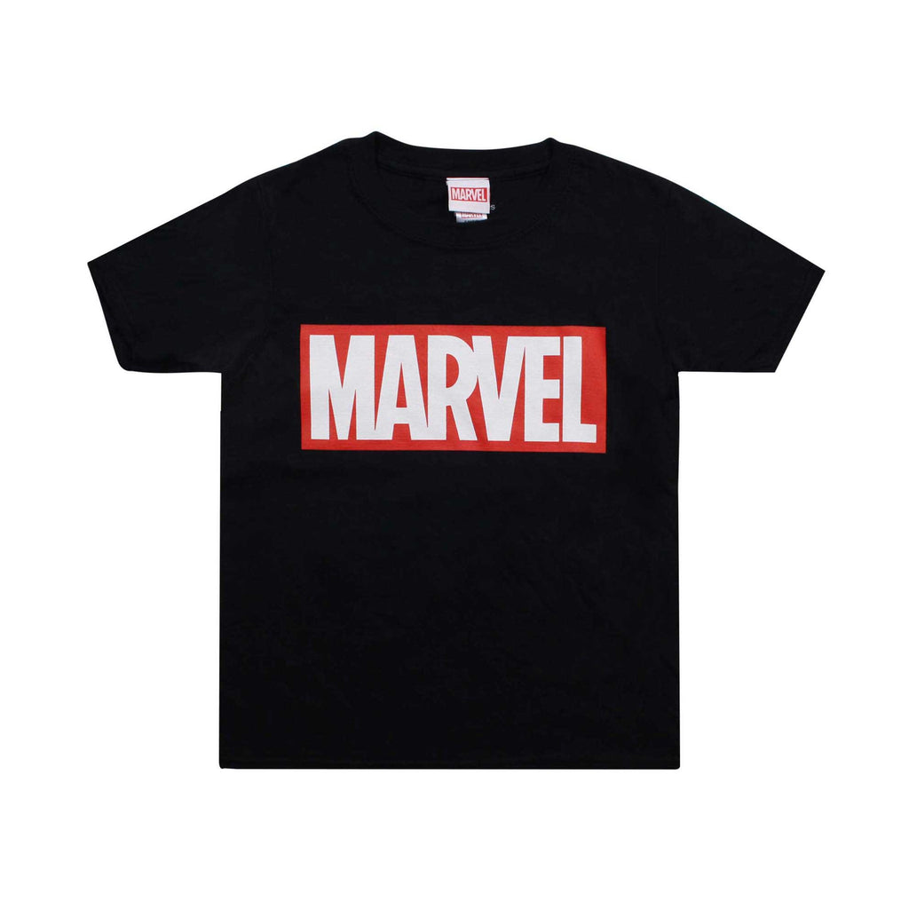 Marvel Boys Core Logo T-Shirt - Black