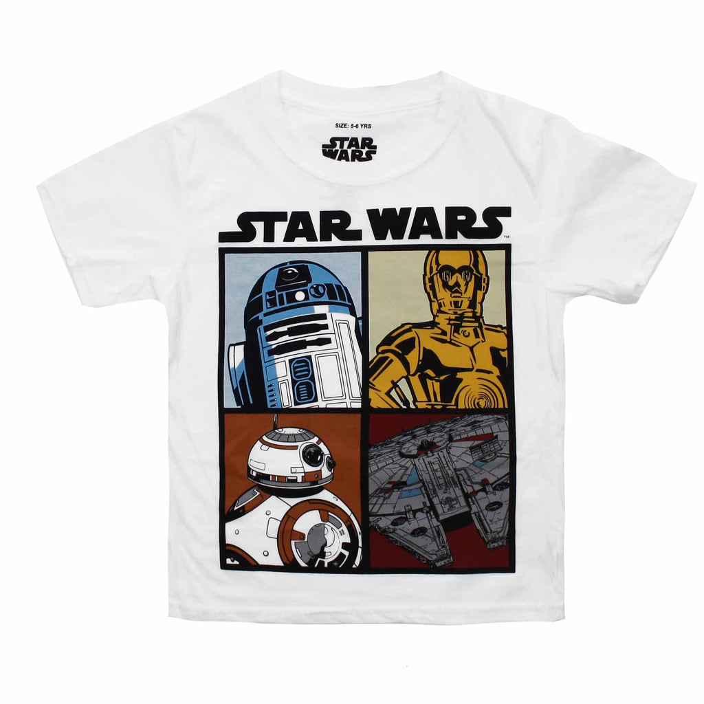 Star Wars Kids - Droids And Ships - T-Shirt - White