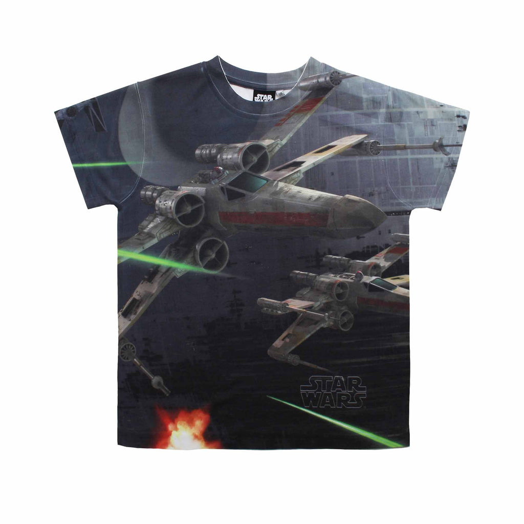 Star Wars Boys X-Wing Fighter Sub T-Shirt - White