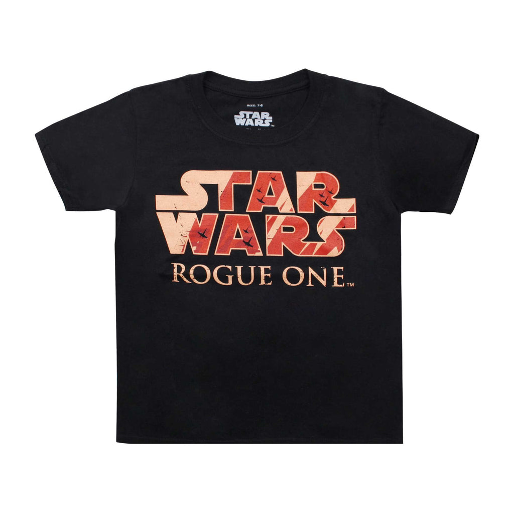 Star Wars Boys Rogue One Logo T-Shirt - Black