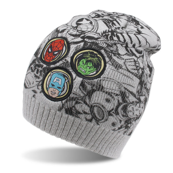 Marvel Boys - Character Patch - Beanie - Sport Grey