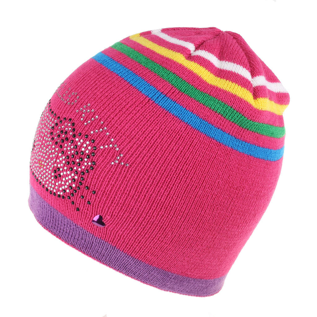 Hello Kitty Girls - Kitty Stripe - Beanie Hat - Pink - CLEARANCE