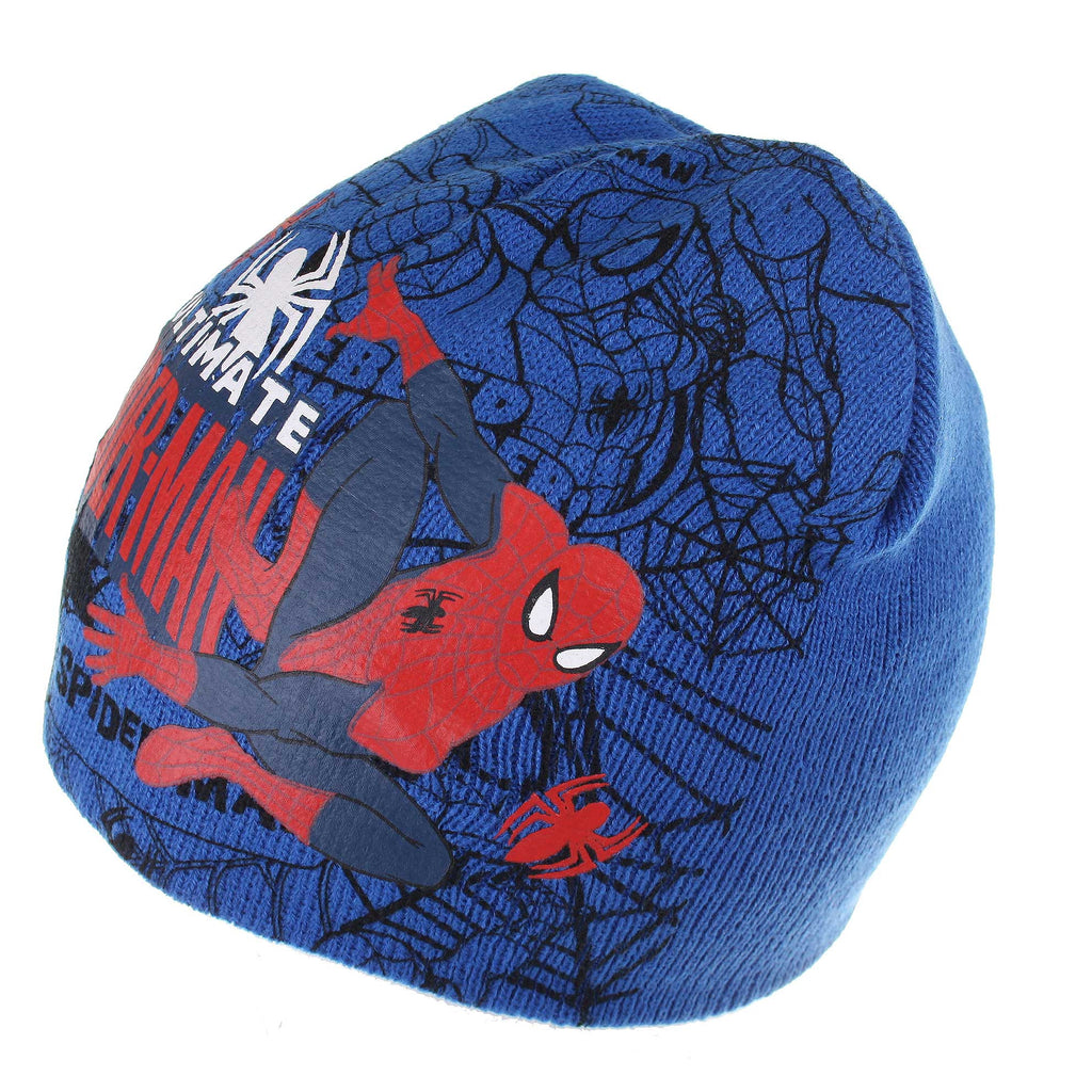 Marvel Kids Ultimate Spider Beanie Hat - Blue