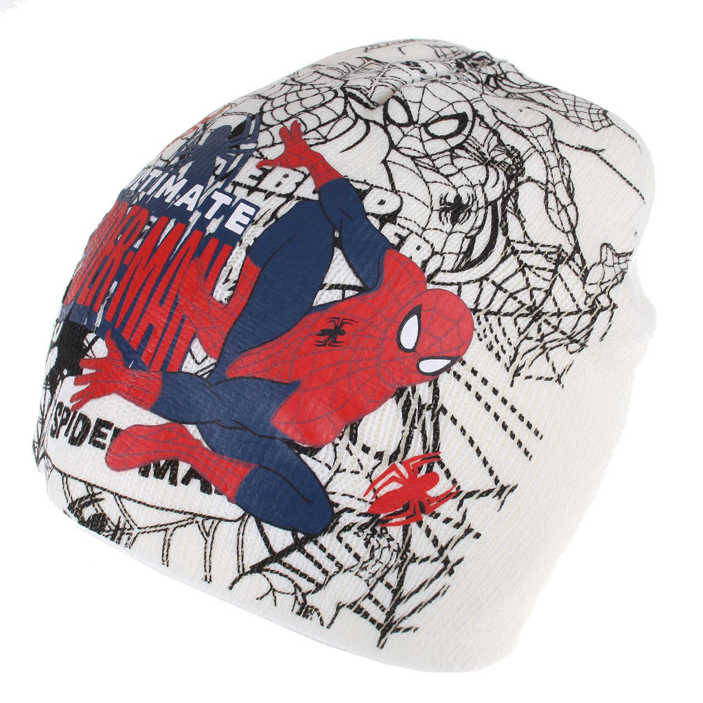 Marvel Kids Ultimate Spider Beanie Hat - Off White