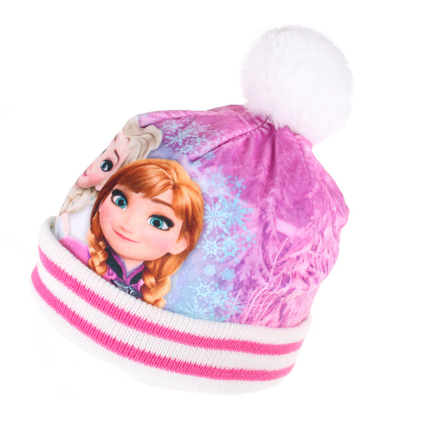 Disney Girls - Frozen - Sisters Smile - Beanie Hat - Off White