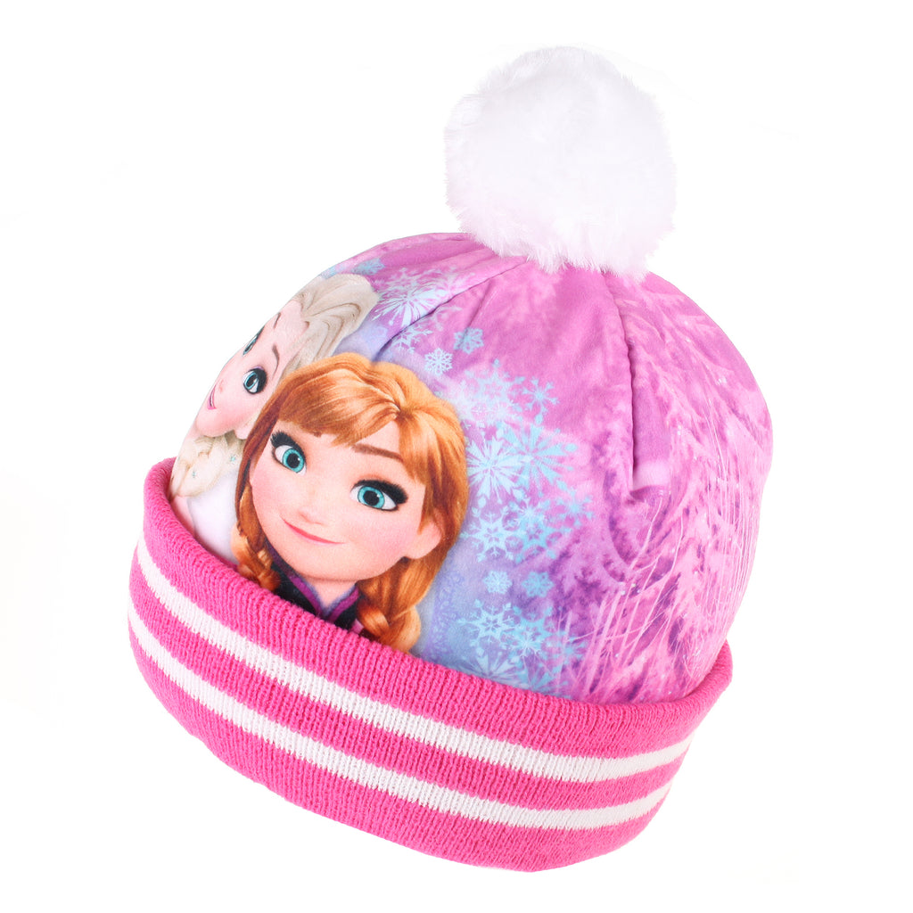 Disney Girls - Frozen - Sisters Smile - Beanie Hat - Pink