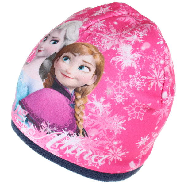 Disney Girls - Frozen - Sisters Snowflake - Beanie Hat - Navy