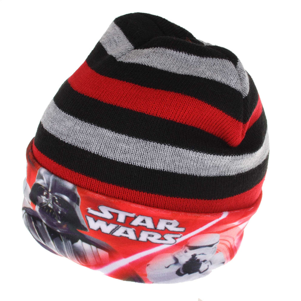 Star Wars Kids Lightsaber Stripe Beanie Hat - Black
