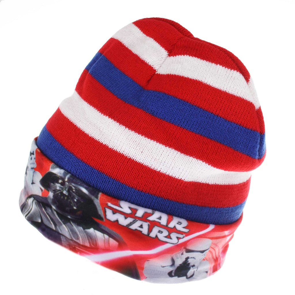 Star Wars Kids Lightsaber Stripe Beanie Hat - Blue