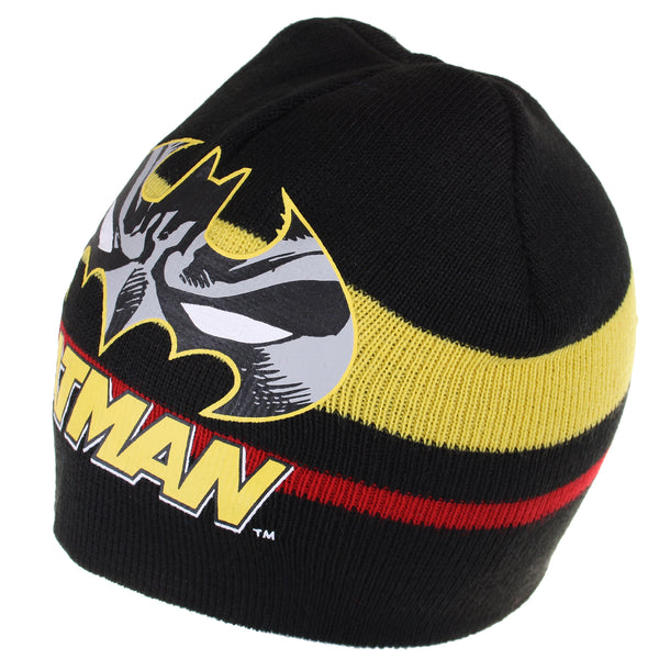 DC Comics Kids - Batman Stripe - Beanie Hat - Black - CLEARANCE