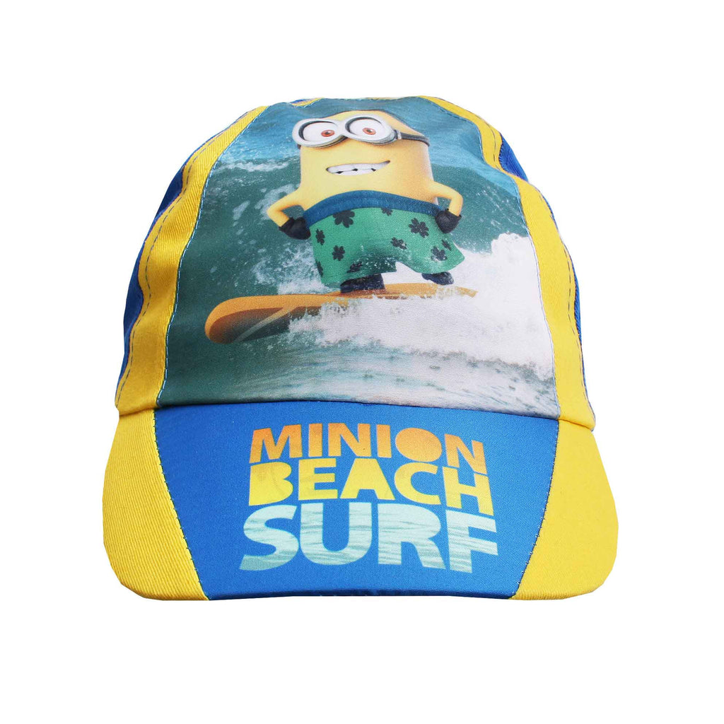 Minions Boys Beach Surf Cap - Yellow/Blue