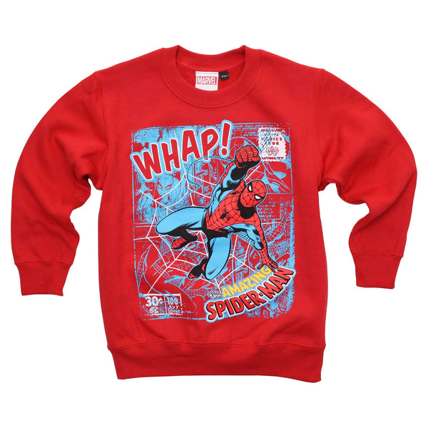 Marvel Boys Spidey Whap Crew Sweat - Red