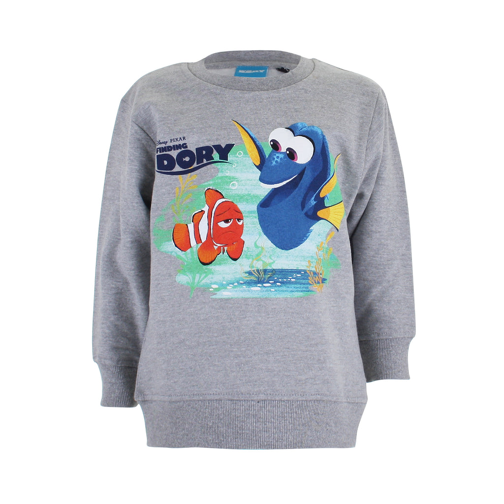 Disney Boys - Finding Dory - Marlin & Dory - Crew Sweat - Grey Marl - CLEARANCE