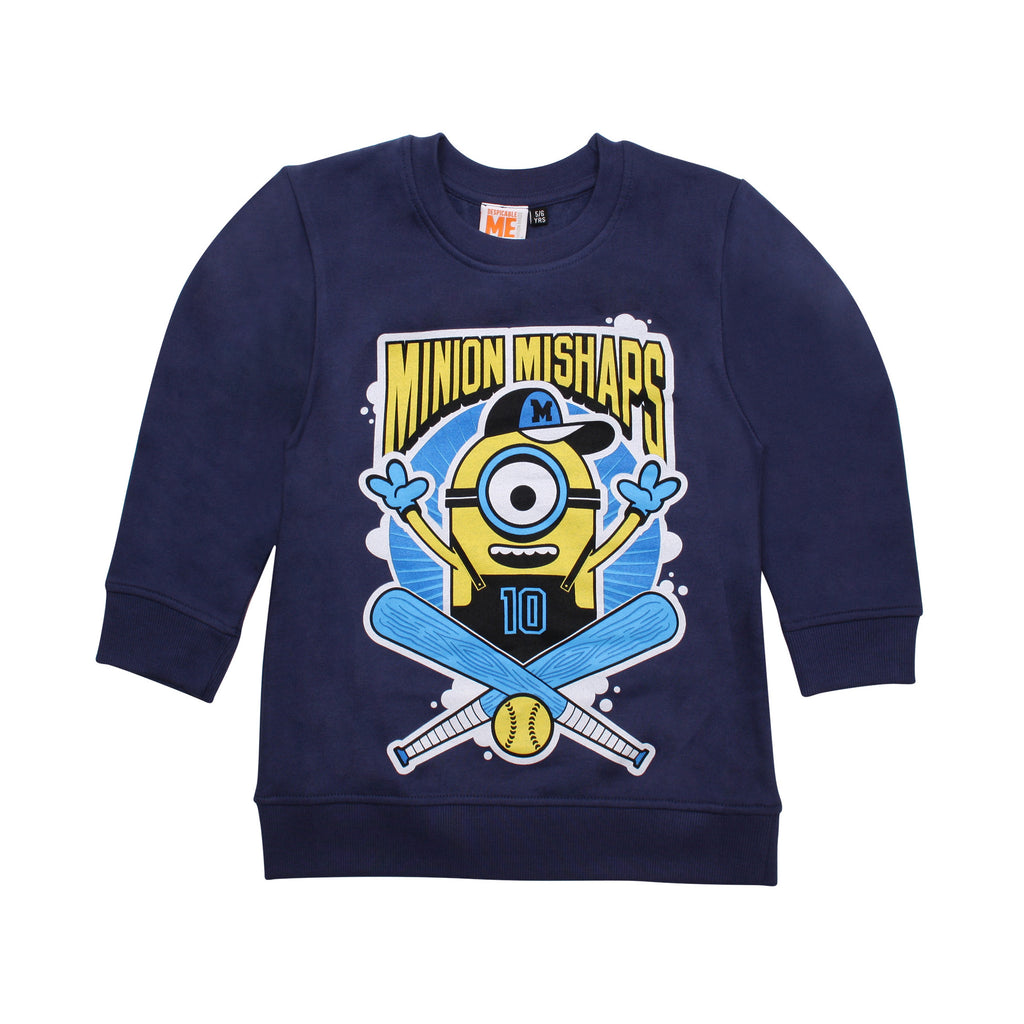 Minions Boys - Mishaps - Crew Sweat - Cobalt - CLEARANCE