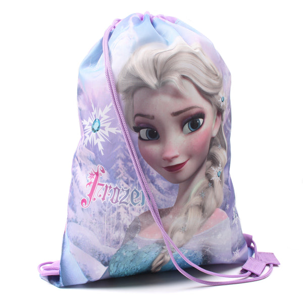 Disney Girls - Frozen - Elsa - Gym Sack - Purple - One Size - CLEARANCE
