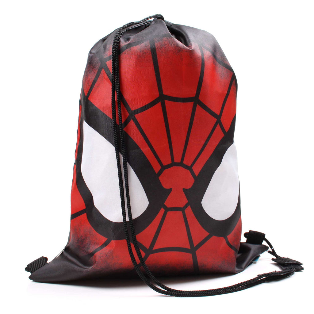 Marvel Boys Spider Man Spidey Face Gym Sack - Black