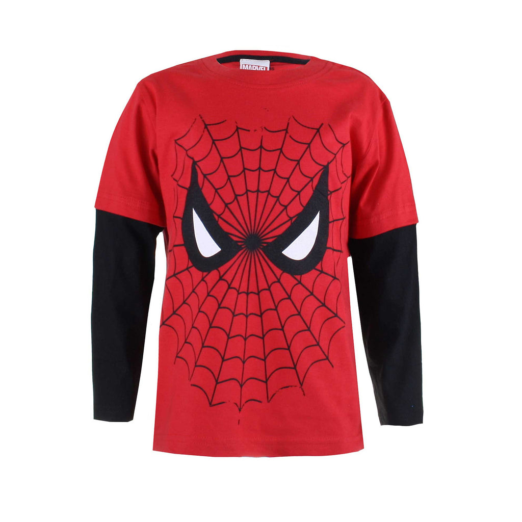 2a49cb5d3 Marvel Kids - Spiderman Web - Long Sleeve T-Shirt - Red/Black – Mega T-Shirt  Store