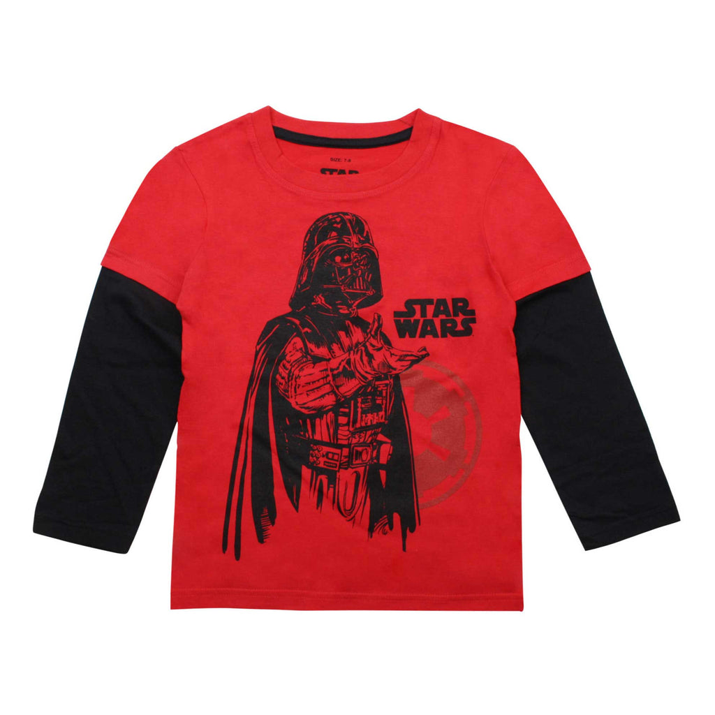 Star Wars Kids Imperial Vader Long Sleeve T-Shirt - Red/Black