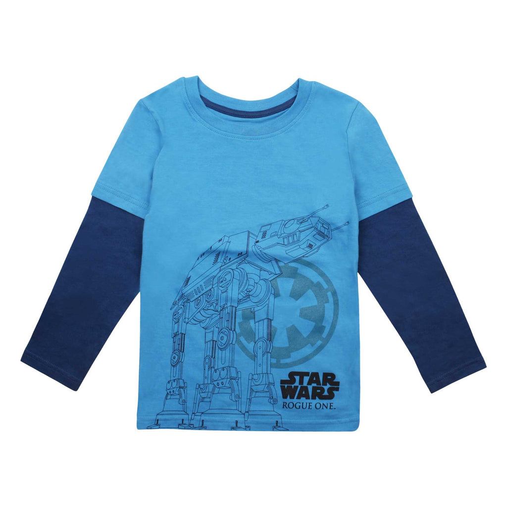 Star Wars Kids At-Act Imperial Long Sleeve T-Shirt - Turquoise/Navy