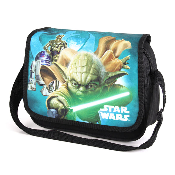 Star Wars Boys - Yoda Lightsaber - Messenger Bag - Black - CLEARANCE