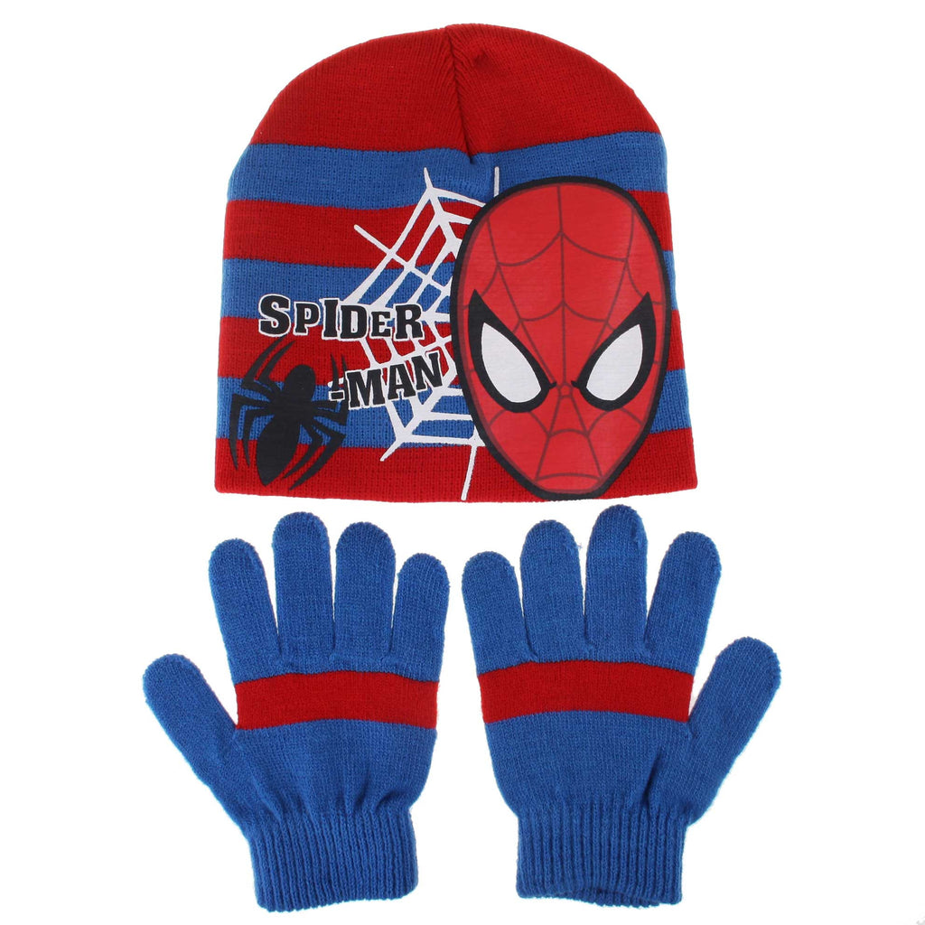 Marvel Kids Web Spider Hat/Glove Set - Red