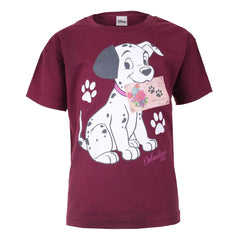 Disney Dalmatians Puppy Post Kids T-Shirt - Burgundy