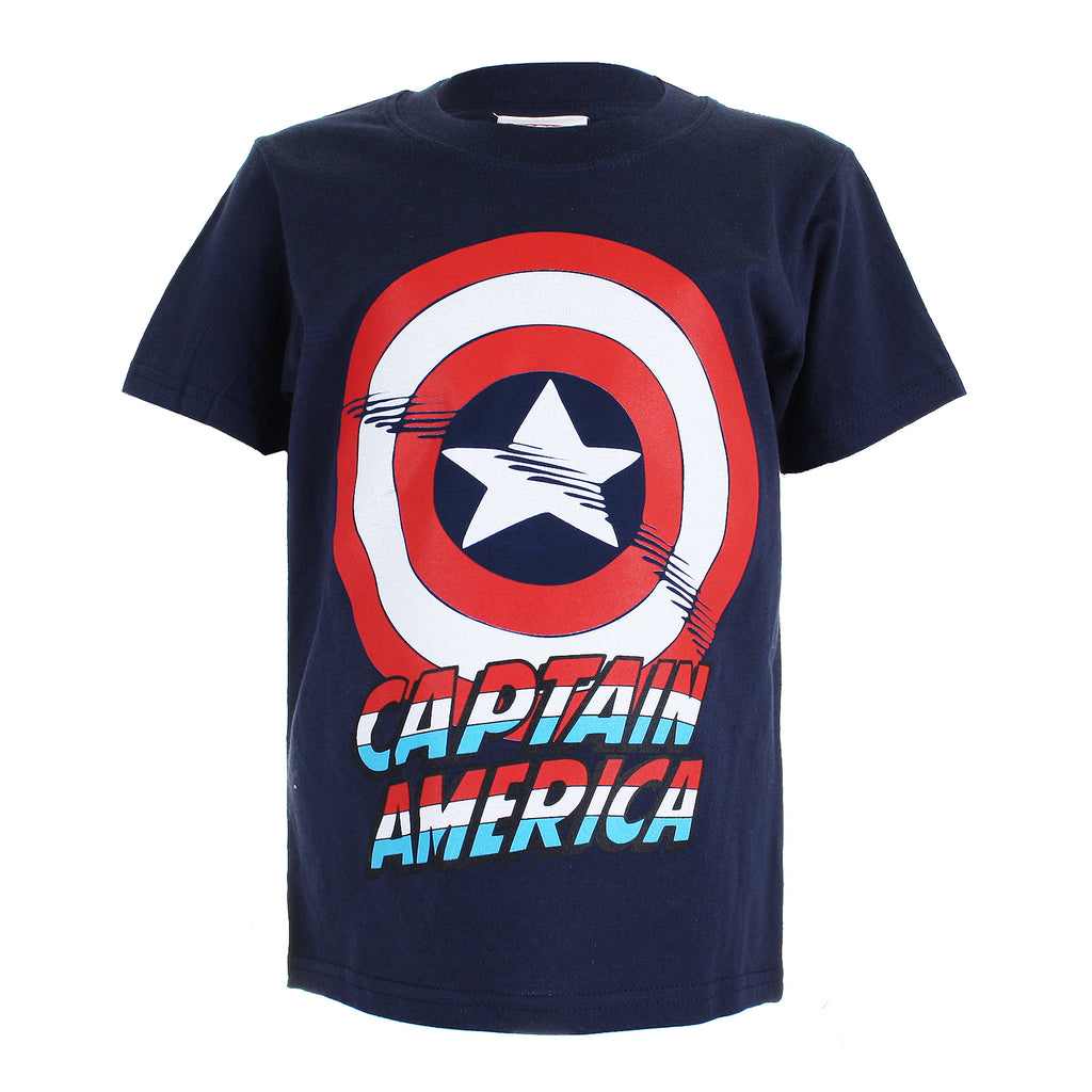 Marvel Boys - Captain America Shield - T-Shirt - Navy