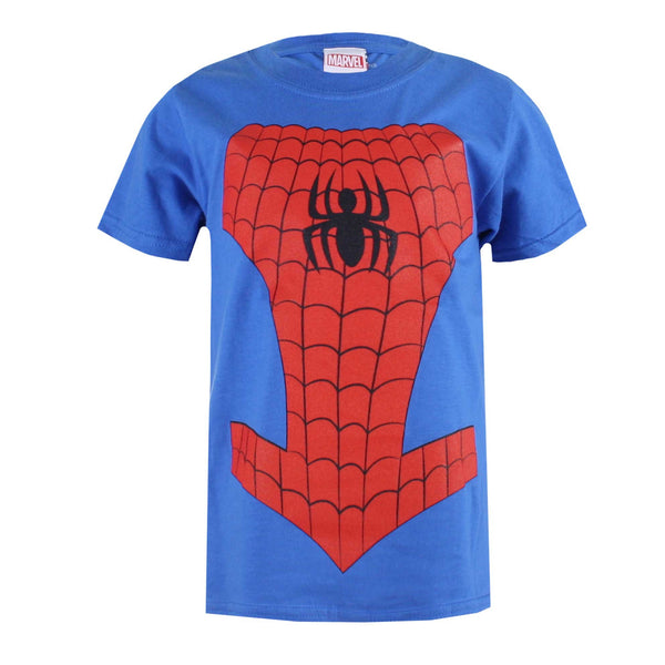 Marvel Boys Spiderman Costume T-Shirt - Royal Blue