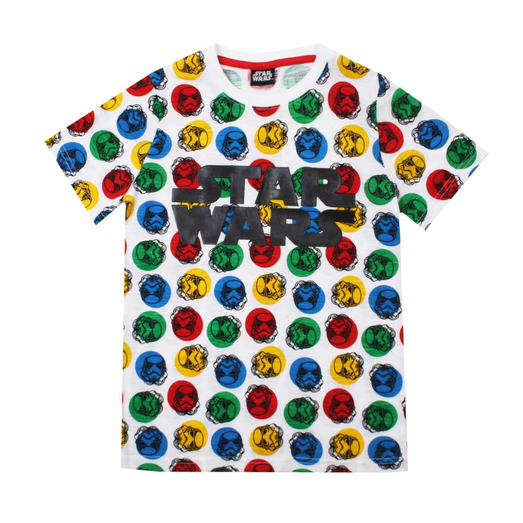 Star Wars Boys Polka Dot T-Shirt - White